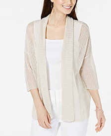 Alfani Open-Stitch Kimono Cardigan, Created for Macy's