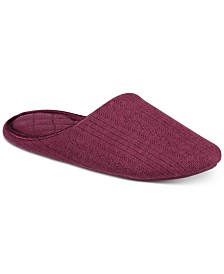 Charter Club Pointelle Closed-Toe Slippers, Created for Macy's
