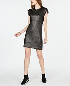 Linen Ruffle-Sleeve Dress, in Regular & Petite Sizes
