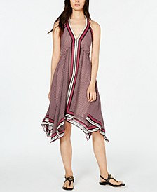Border-Print Halter Dress, in Regular & Petite Sizes