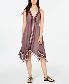 MICHAEL Michael Kors Border-Print Halter Dress, in Regular & Petite Sizes