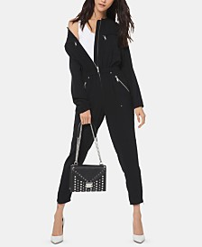 Michael Michael Kors Cinched-Waist Zippered Jumpsuit