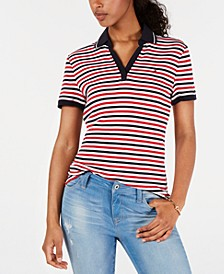 Striped Cotton Polo, Created for Macy's