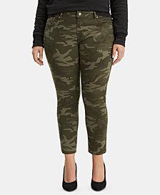 Levi's® Trendy Plus Size 711 Camo-Print Skinny Jeans