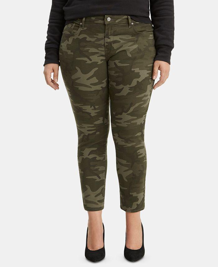Levi's - Trendy Plus Size 711 Camo-Print Skinny Jeans