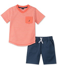 Nautica Baby Boys 2-Pc. Cotton T-Shirt & Shorts Set