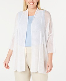 Alfani Plus Size Open-Front Cardigan, Created For Macy's