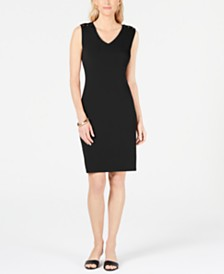 JM Collection Petite Laced-Shoulder Dress, Created for Macy's