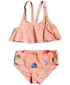 Little Girls 2-Pc. Splashing You Flutter Swimsuit