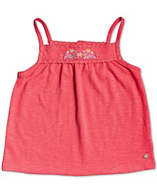 Little Girls Sure Things Embroidered Tank Top