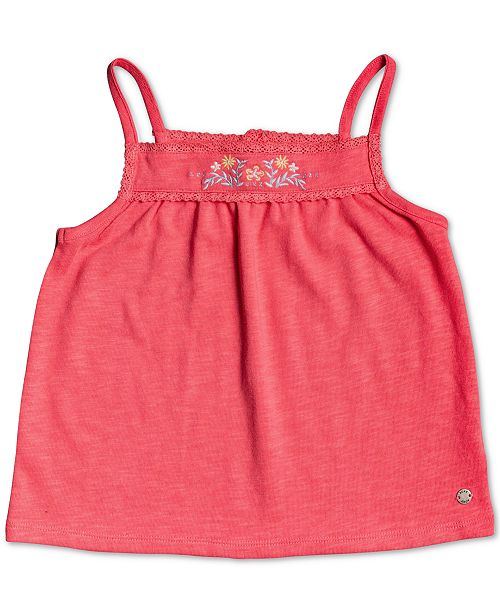 Roxy Little Girls Sure Things Embroidered Tank Top