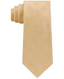 Men's Classic Plaid Satin Twill Silk Tie