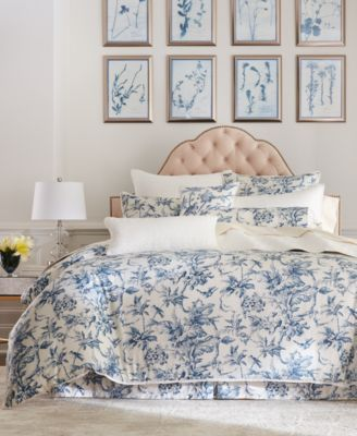 Classic Botanical Toile Cotton European Sham, Created for Macy's