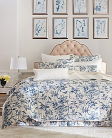 Classic Botanical Toile Cotton Full/Queen Duvet Cover, Created for Macy's