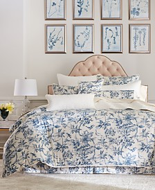 Hotel Collection Classic Botanical Toile Cotton King Duvet Cover, Created for Macy's