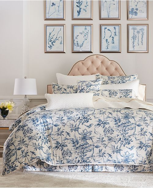 Hotel Collection Classic Botanical Toile Bedding Collection, Created for Macy's