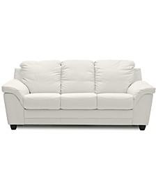 "Towlex 82"" Leather Sofa"