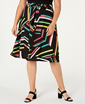3767464729 Bar III Plus Size Printed A-Line Skirt, Created for Macy's