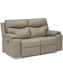 "Ronse 64"" Leather Power Recliner Loveseat"