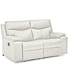 """Ronse 64"""" Leather Power Recliner Loveseat"""