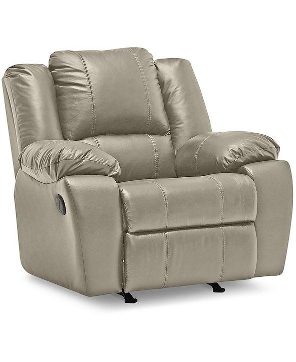 "Furniture Kovin 42"" Leather Wallhugger Power Recliner"