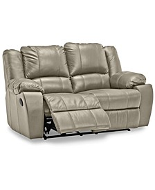 "Kovin 66"" Leather Recliner Loveseat"