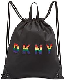 Pride Embossed Logo Drawstring Backpack, Created for Macy's