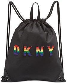 DKNY Pride Embossed Logo Drawstring Backpack, Created for Macy's