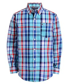 Toddler Boys Oliver Stretch Plaid Shirt