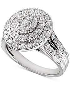 Diamond Multi-Halo Diamond Engagement Ring (1 ct. t.w.) in 14k White Gold