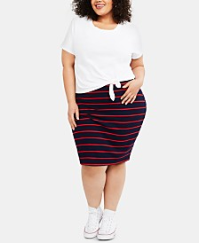 Motherhood Maternity Plus Size Layered-Look Dress