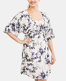 Maternity Printed Nursing Dress