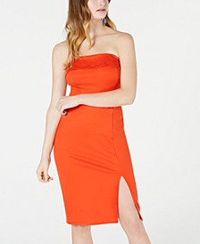 Juniors' Strapless Ponte-Knit Midi Dress, Created for Macy's