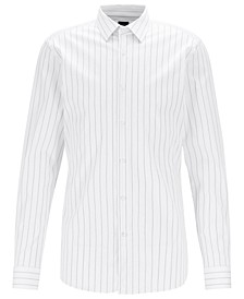 BOSS Men's T-Charlie Striped Slim-Fit Piqué Shirt