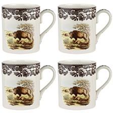 Woodland Bison Mug Set/4