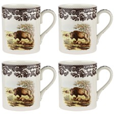 Spode Woodland Bison Mug Set/4