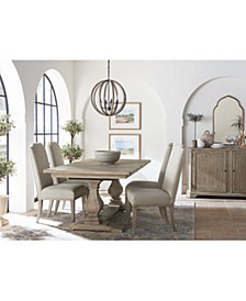 Rachael Ray Monteverdi Dining 5-Pc. Set (Table & 4 Upholstered Side Chairs)