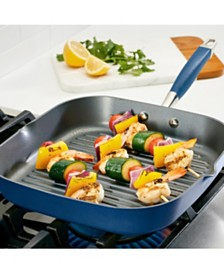 "Anolon Advanced Home Hard-Anodized 11"" Nonstick Deep Square Grill Pan"