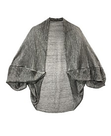 Crinkle Metallic Ruffle Sleeve Cocoon