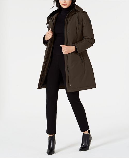 Vince Camuto Hooded Faux-Fur-Trim Down Parka