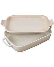 Rectangular 3.5-Qt. Dish With Platter Lid