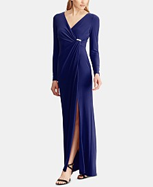 Lauren Ralph Lauren Shirred Jersey Gown