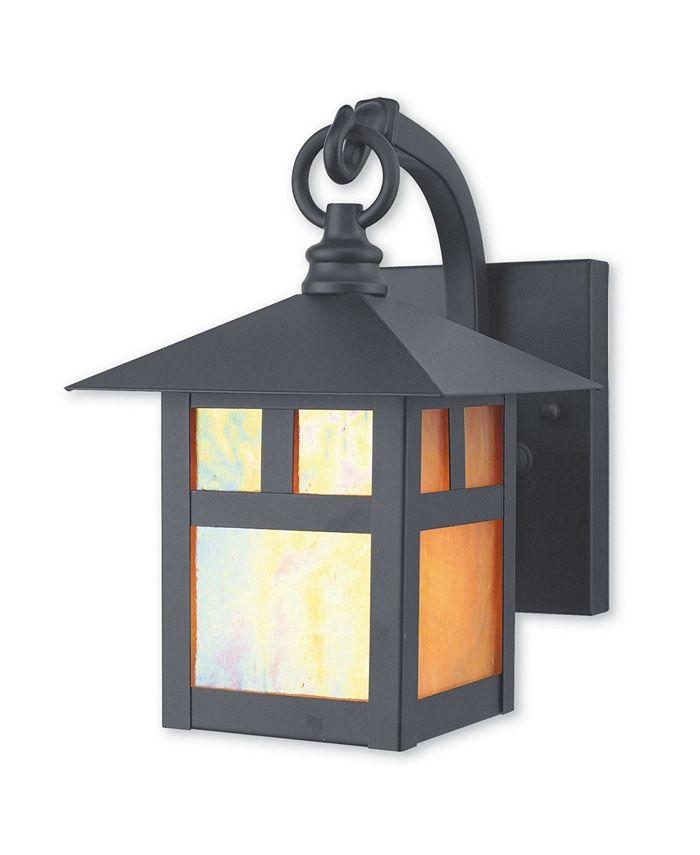 "Livex - Montclair Mission 1-Light 8.5"" Outdoor Wall Lantern"