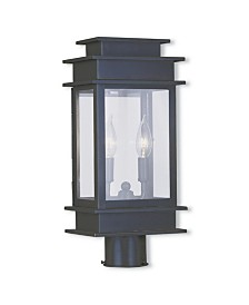 Livex Princeton 2-Light Small Outdoor Post Lantern