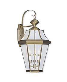 CLOSEOUT!   Georgetown 3-Light Outdoor Wall Lantern