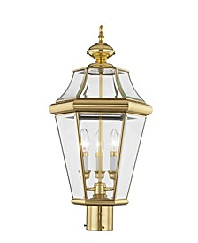 CLOSEOUT!   Georgetown 3-Light Outdoor Post Lantern