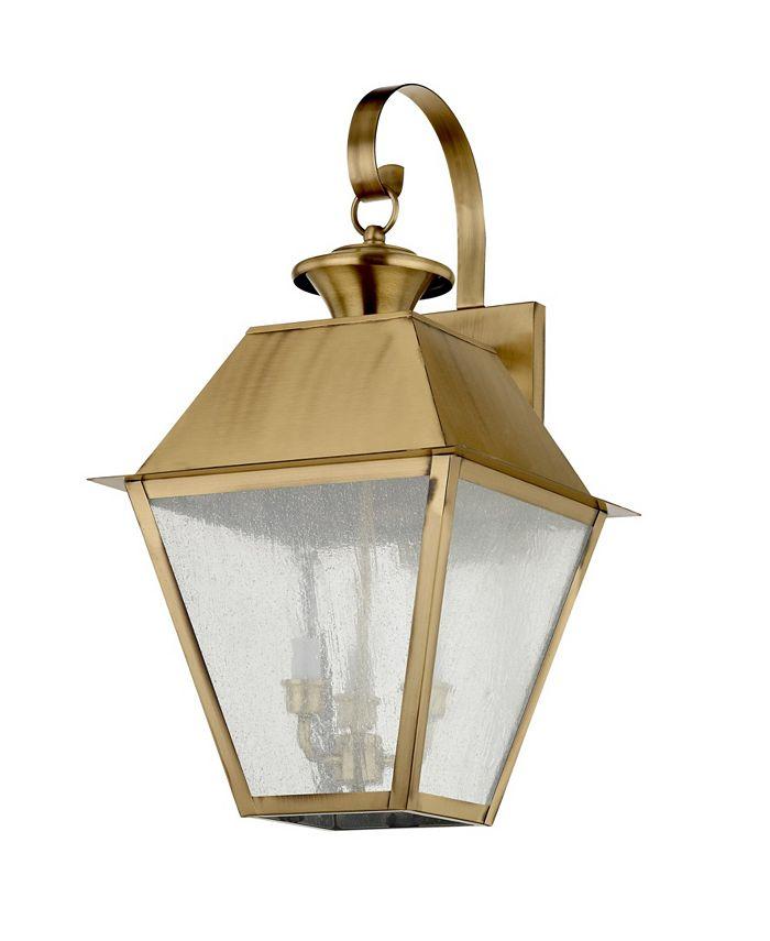 Livex - Mansfield 3-Light Outdoor Wall Lantern