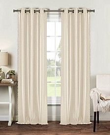 "Bali 54"" x 84"" Faux Silk Curtain Set"