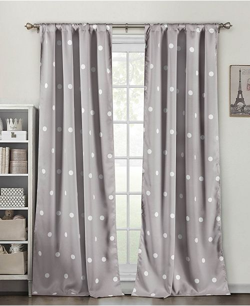 "Duck River Textile Dottie 38"" x 84"" Blackout Curtain Set"