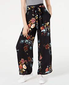 American Rag Juniors' Printed Tie-Front Soft Pants, Created for Macy's